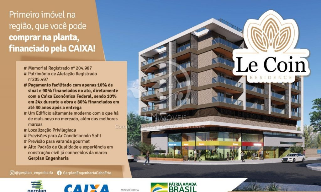 Lançamento- Edifício Le Coin- Via Financiamento bancário- Oportunidade!
